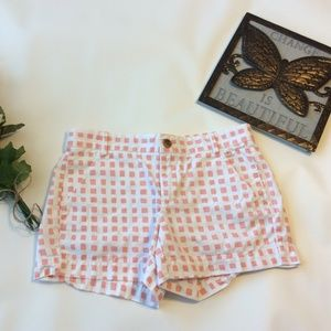 Gap Khaki Shorts 0 Sunkissed Orange Squares Chino